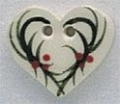 86015 - Holly Heart 5/8in x 5/8in -  1 per pkg