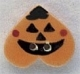 86083 - Pumpkin Upside Down Heart 3/4in x 5/8in -  1 per pkg