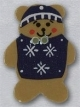 86097 - Teddy Bear With Sweater  3/4in x 1in -  1 per pkg