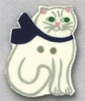86101 - Cat With Bow 3/4in x 1in -  1 per pkg