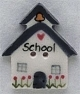 86118 - School House 7/8in x 1in -  1 per pkg
