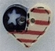 86125 - Small Flag Heart 7/8in x 3/4in -  1 per pkg