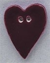 86205 - Large Burgundy Folk Heart 3/4in x 1in -  1 per pkg
