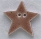 86211 - Large Speckled Brown Star  1in x 1in -  1 per pkg