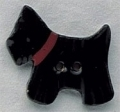 86219 - Black Scottie Facing Left 1/2in x 1in -  1 per pkg