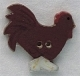 86223 - Rooster Facing Right 1 1/8in x 1in -  1 per pkg