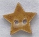 86237 - Small Speckled Gold Star 5/8in x 5/8in -  1 per pkg
