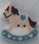 86294 - Small Blue Rocking Horse 7/8in x 1in -  1 per pkg