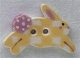 86299 - Yellow Checkerboard Bunny 7/8in x 1/2in -  1 per pkg