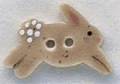 86320 - Tan Leaping Bunny 7/8in x 1/2in -  1 per pkg