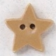 86381 - Very Small Old Gold Star With Matte Finish  1/2in x 1/2i