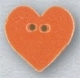 "86399 - Small Tangerine Heart 5/8""x 5/8in -  1 per pkg"