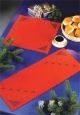 Christmas Red Hardanger Placemat - Permin #103675