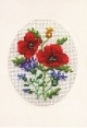 Card/Envelope - Poppy - Permin #171172