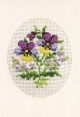 Card/Envelope - Pansy - Permin #171173