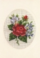Card/Envelope - Red Rose - Permin #171179