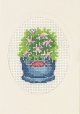 Bucket with White Flowers Greeting Card (Kit)