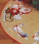 Tree Skirt - Santa And Geese - Permin #450290