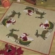 Santa in Sleigh Tree Skirt - (KIT #451215)