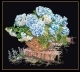 Blue Hydrangea In Basket - #GOK2046B Thae G. KIT
