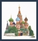 St. Basils Cathedral Moscow (linen white) - (KIT)