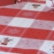 Tablecloths-Red & White-35in x 35in