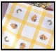 Tablecloths-Yellow Squares-34in x 34in