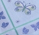 Tablecloths-Blue with butterflies-35in x 35in