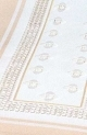 Table Runners-White with beige stripes-18in x 39in
