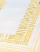 Table Runners-White with vanilla border-18in x 39in
