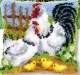 Chicken Family Cushion