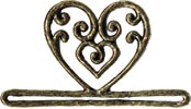 MHMMH2 - Antique Gold Filagree Heart (3-1/4in-Metal)