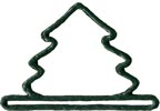 MHMMT2 - Green Mini Tree (3-1/4in-Metal)