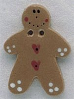 86156 - Gingerbread With Heart 7/8in x 1 1/4in - 1 per pkg