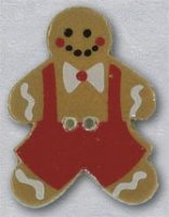 86014B - Boy Gingerbread 7/8in x 1 1/4in - 1 per pkg