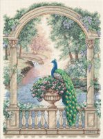 "Majestic Peacock (KIT)-12""X16"" 14 Count"