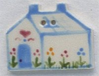 86135 - Blue Heart House 1 1/8in x 7/8in - 1 per pkg